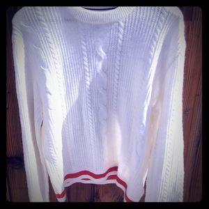 Retro 90s  white Tommy Hilfiger knit sweater